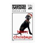 great dane christmas postage stamps