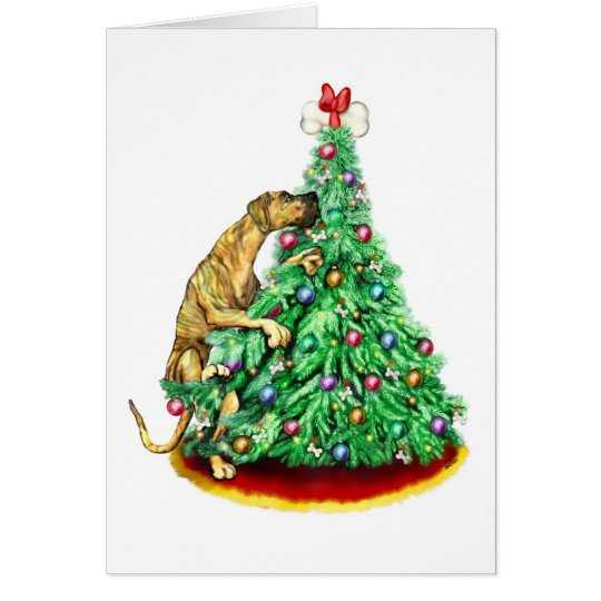Great Dane Christmas Reach Goals Brindle UC Card