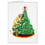 Great Dane Christmas Reach Goals Fawn UC Greeting Cards