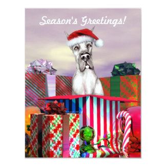 Great Dane Christmas Surprise Black Card