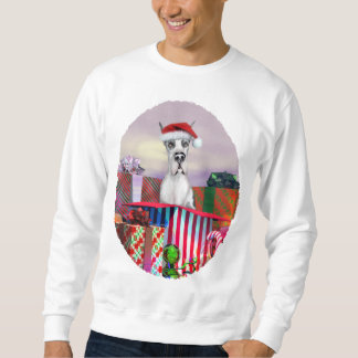 Great Dane Christmas Surprise Harle Pull Over Sweatshirts