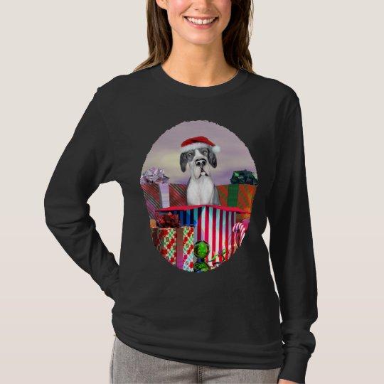 Great Dane Christmas Surprise Mantle UC T-Shirt
