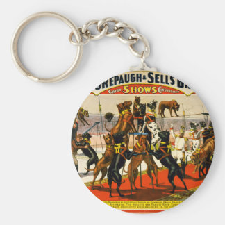 Great Dane Circus Show Keychain