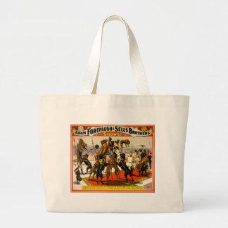 Great Dane Circus Show Large Tote Bag