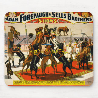 Great Dane Circus Show Mouse Pad