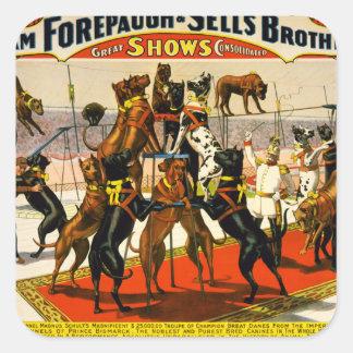 Great Dane Circus Show Square Sticker