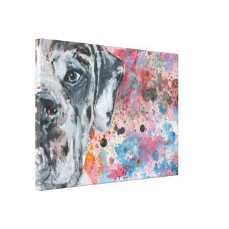 Great Dane colorfull Canvas Print