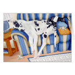 Great Dane Couch Taters Greeting Card