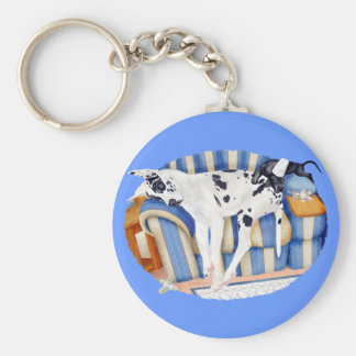 Great Dane Couch Taters Keychain
