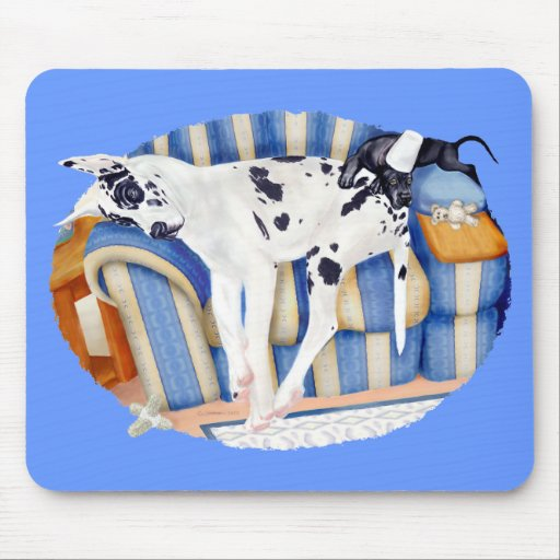 Great Dane Couch Taters Mouse Pad