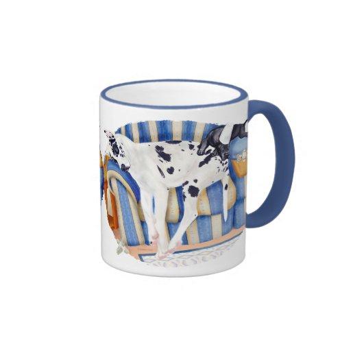 Great Dane Couch Taters Coffee Mug