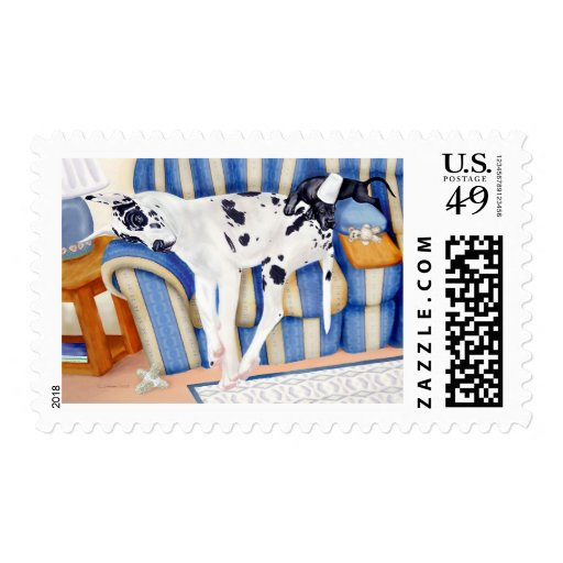 Great Dane Couch Taters Postage