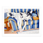 Great Dane Couch Taters Postcard