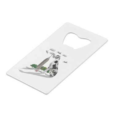 Beach Themed Great Dane Credit Card Bottle Opener