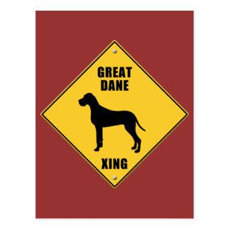 Great Dane Crossing (XING) Sign Postcard