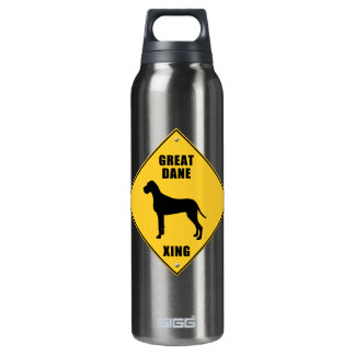 Great Dane Crossing (XING) Sign 16 Oz Insulated SIGG Thermos Water Bottle
