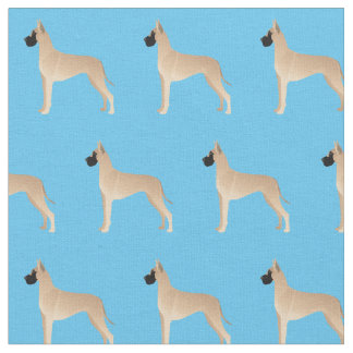 Great Dane Customizable Silhouette Tiled Fabric