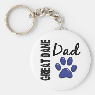 Great Dane Dad 2 Keychain