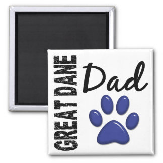 Great Dane Dad 2 2 Inch Square Magnet