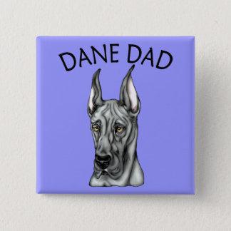 Great Dane Dad Black Pinback Button