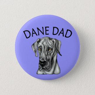 Great Dane Dad Black UC Button