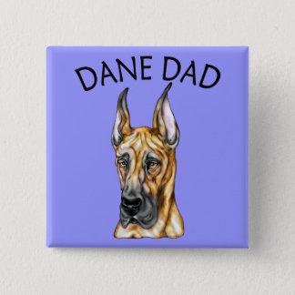 Great Dane Dad Brindle Button