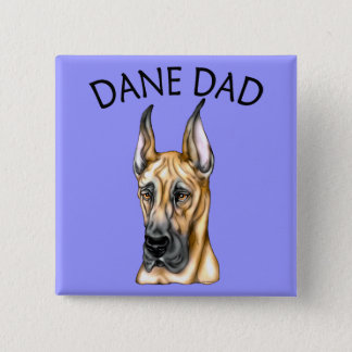Great Dane Dad Fawn Pinback Button