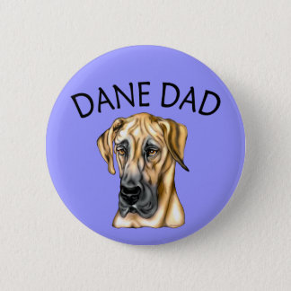 Great Dane Dad Fawn UC Button