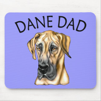 Great Dane Dad Fawn UC Mouse Mat