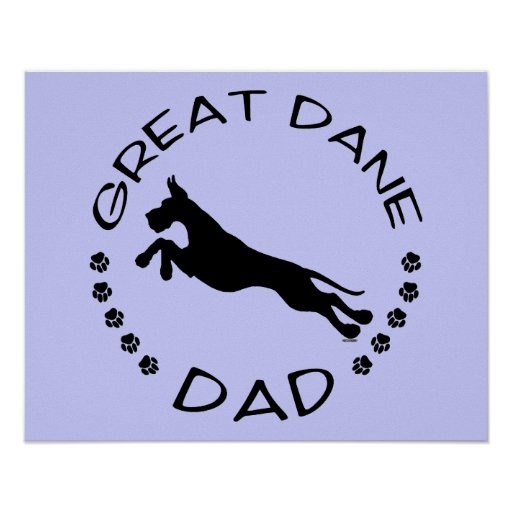 Great Dane Dad Jumper Poster