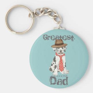 Great Dane Dad Keychain