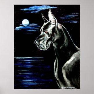 Great Dane - Dark Moon Print