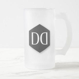 Great Dane DD Identity Frosted Glass Beer Mug