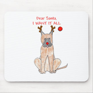 Great Dane Dear Santa Mouse Pad