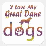 Great Dane designs Square Sticker