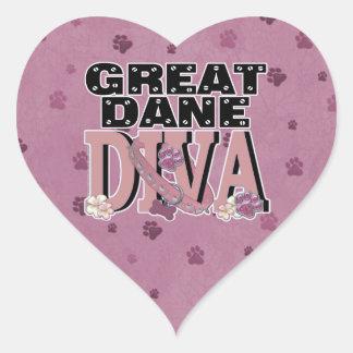 Great Dane DIVA Heart Sticker