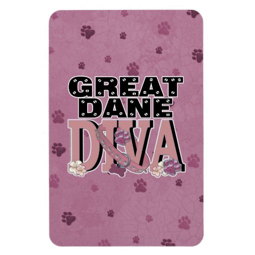 Great Dane DIVA Rectangle Magnet