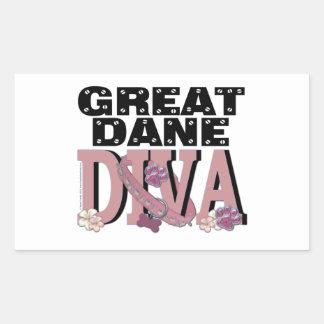 Great Dane DIVA Rectangular Sticker