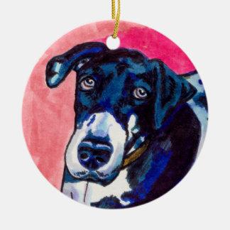 Great dane dog art cute original ink drawing ceramic ornament