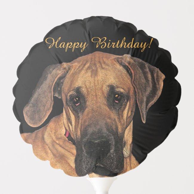 Great Dane Dog Birthday Animal Balloon