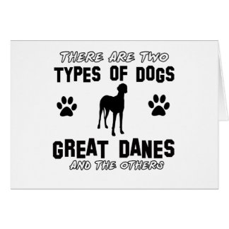Great Dane dog breed designs Card