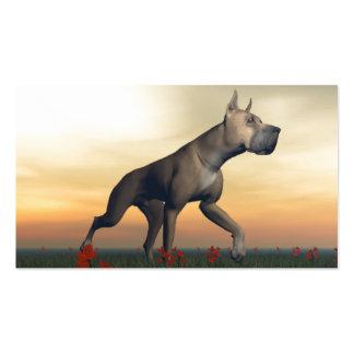 Great dane dog business card