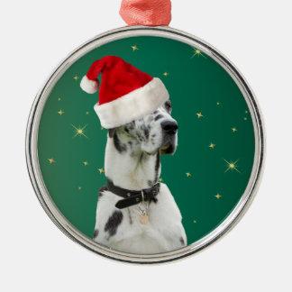 Great Dane dog christmas holiday ornament green