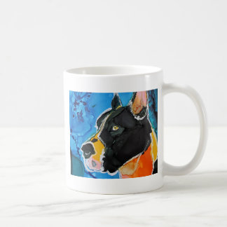 Great Dane Dog Colorful Alcohol Ink Painting Classic White Coffee Mug