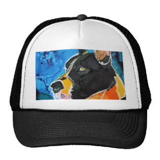 Great Dane Dog Colorful Alcohol Ink Painting Trucker Hats