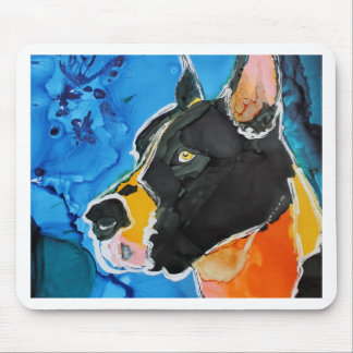 Great Dane Dog Colorful Alcohol Ink Painting Mouse Pad