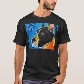 Great Dane Dog Colorful Alcohol Ink Painting T-Shirt