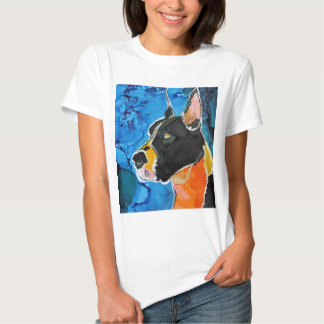 Great Dane Dog Colorful Alcohol Ink Painting Tee Shirt