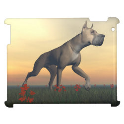 Case Savvy Glossy Finish iPad Case with Great Dane Phone Cases design