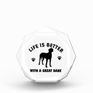 Great Dane dog design Acrylic Award